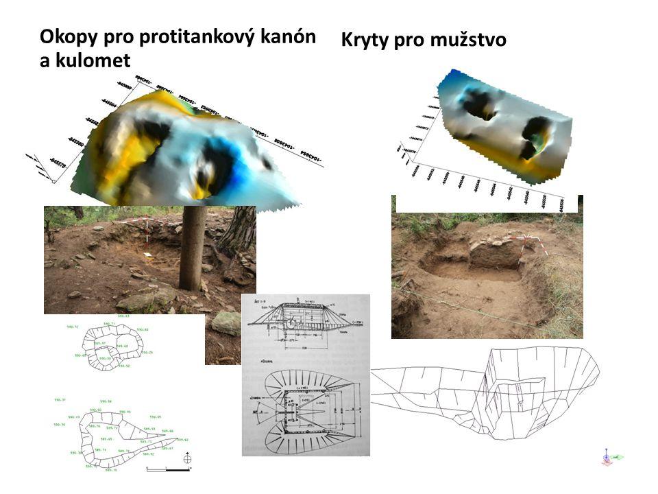 Okopy pro protitankový kanón a kulomet