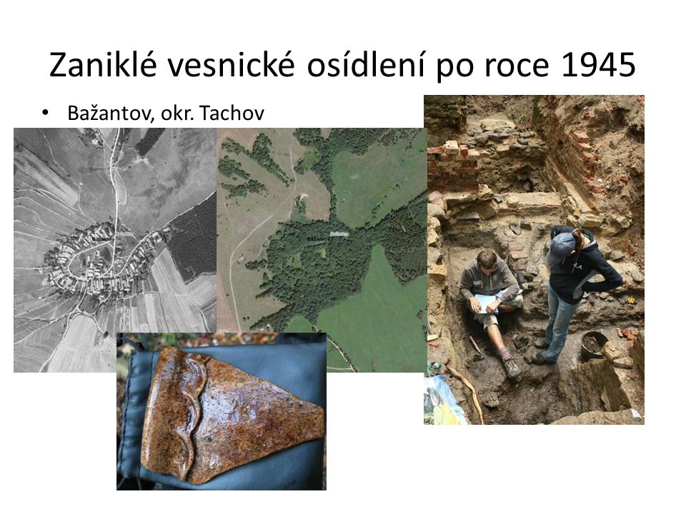 Zaniklé vesnické osídlení po roce 1945