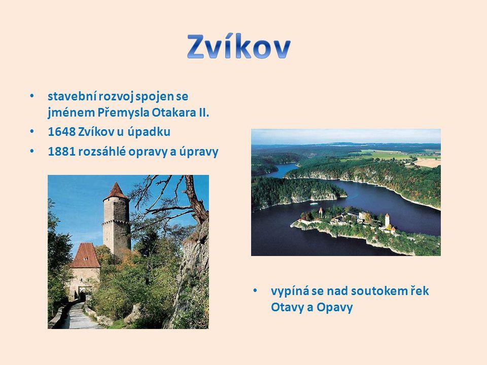 Zvíkov stavební rozvoj spojen se jménem Přemysla Otakara II.
