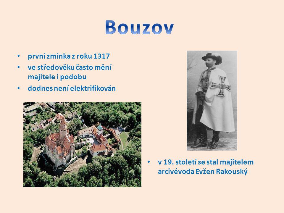 Bouzov první zmínka z roku 1317
