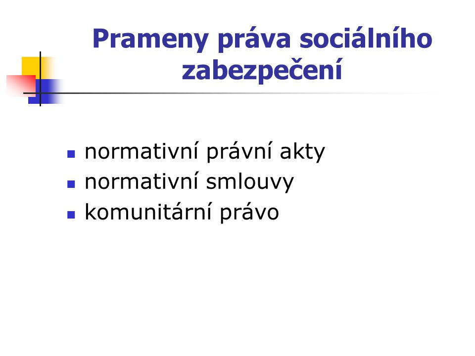 Prameny práva sociálního zabezpečení