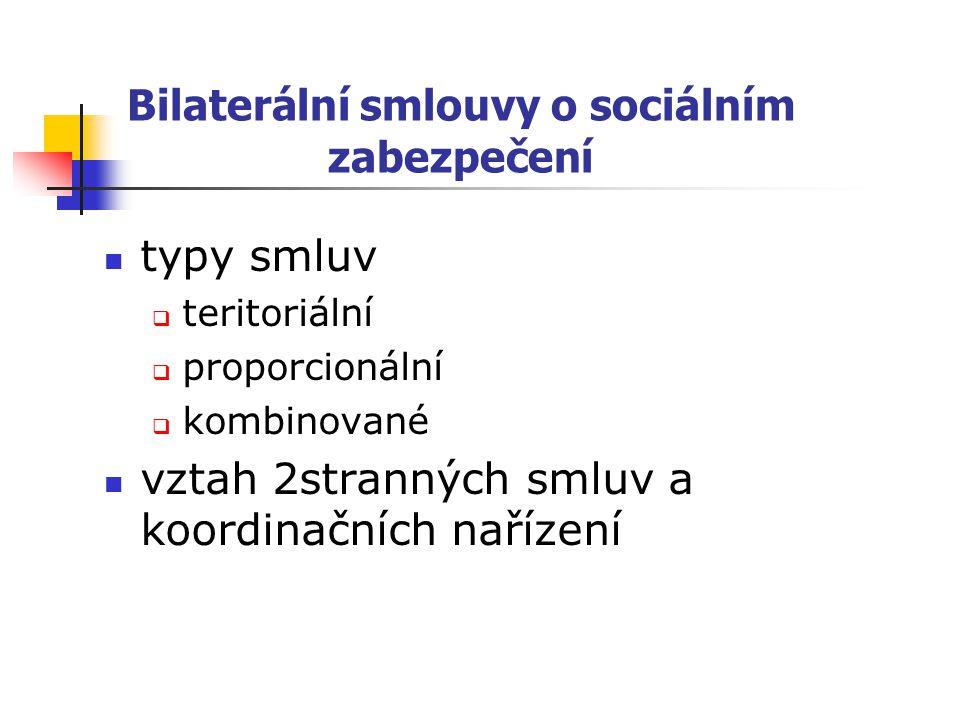 Bilaterální smlouvy o sociálním zabezpečení