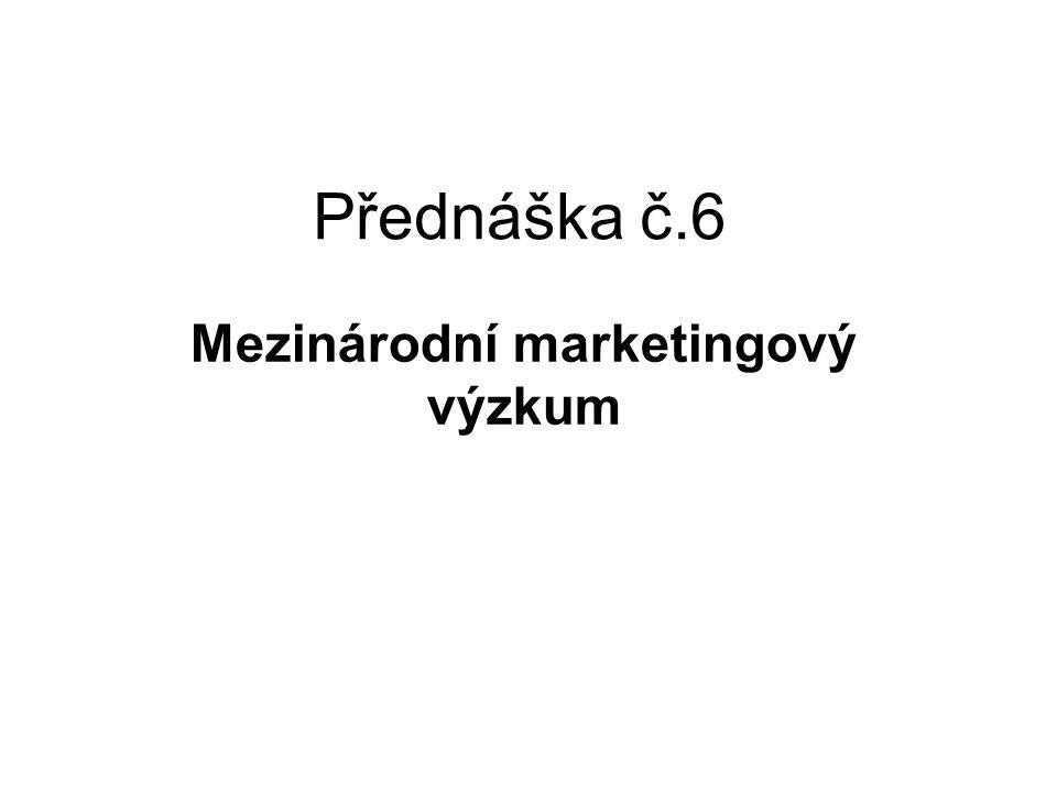 Mezinárodní marketingový výzkum