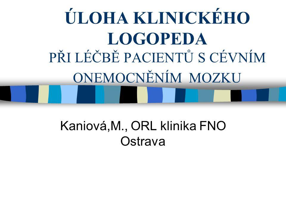 Kaniová,M., ORL klinika FNO Ostrava