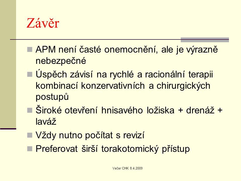 Závěr APM není časté onemocnění, ale je výrazně nebezpečné