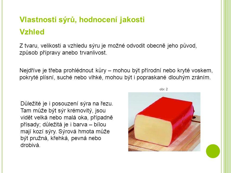 Vlastnosti sýrů, hodnocení jakosti