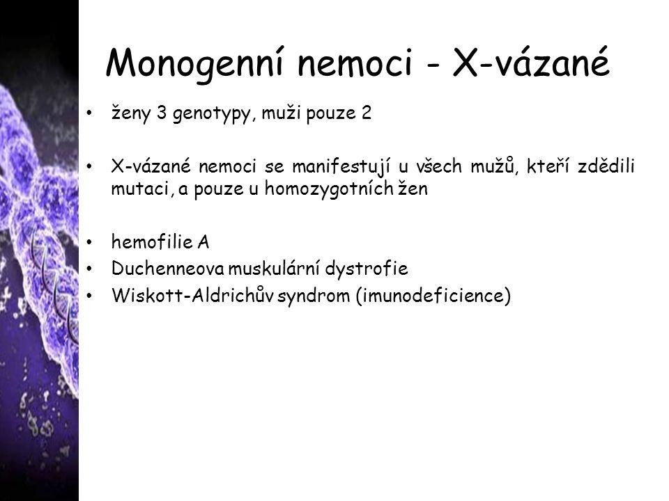 Monogenní nemoci - X-vázané