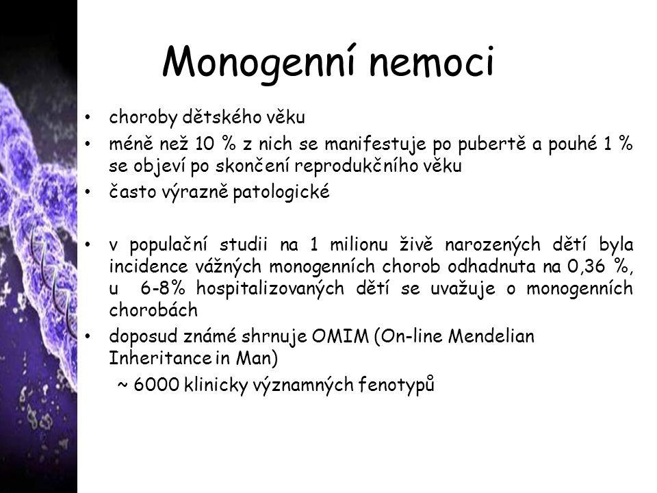 Monogenní nemoci choroby dětského věku