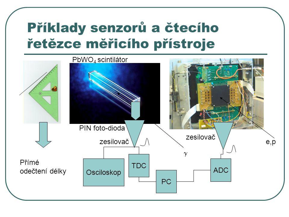 Příklady senzorů a čtecího řetězce měřicího přístroje