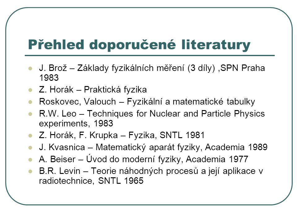 Přehled doporučené literatury