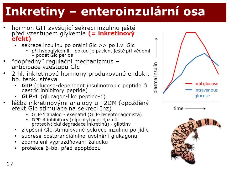 Inkretiny – enteroinzulární osa