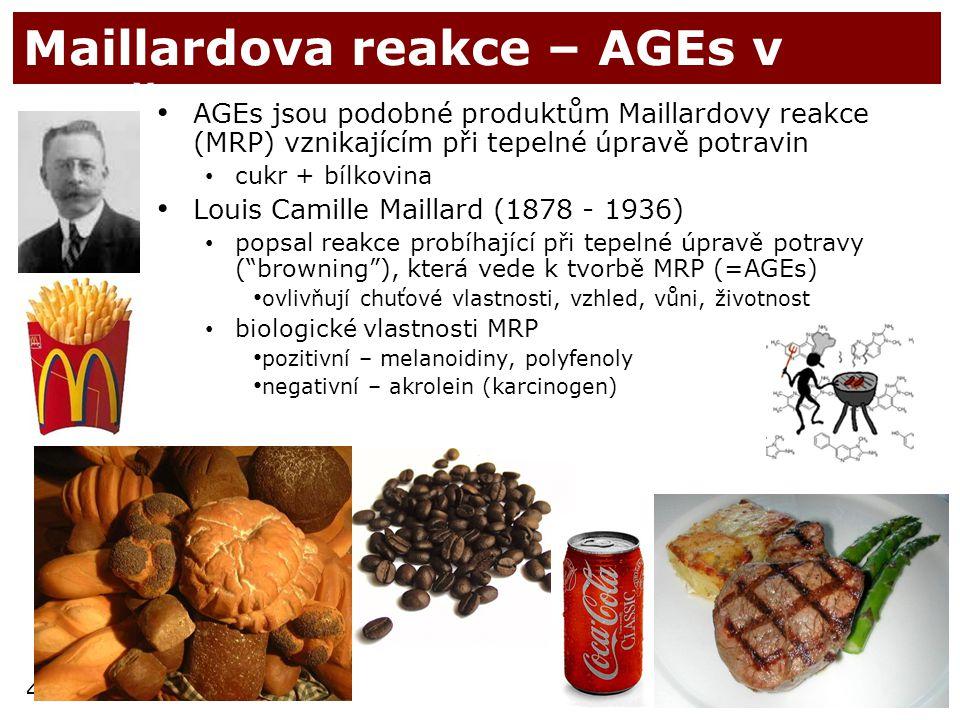 Maillardova reakce – AGEs v dietě