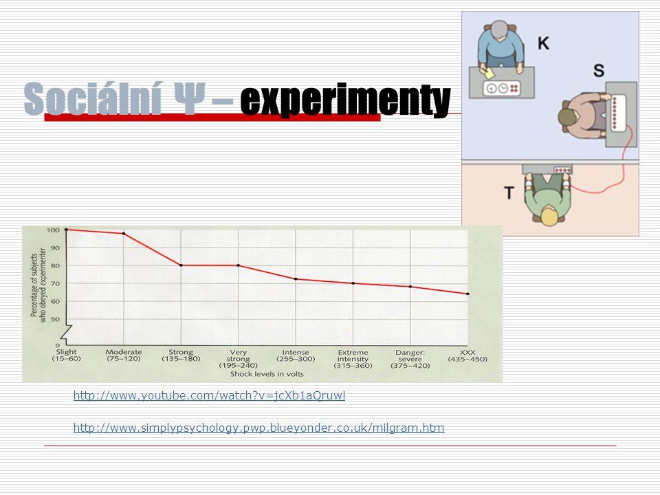 Sociální Ψ – experimenty