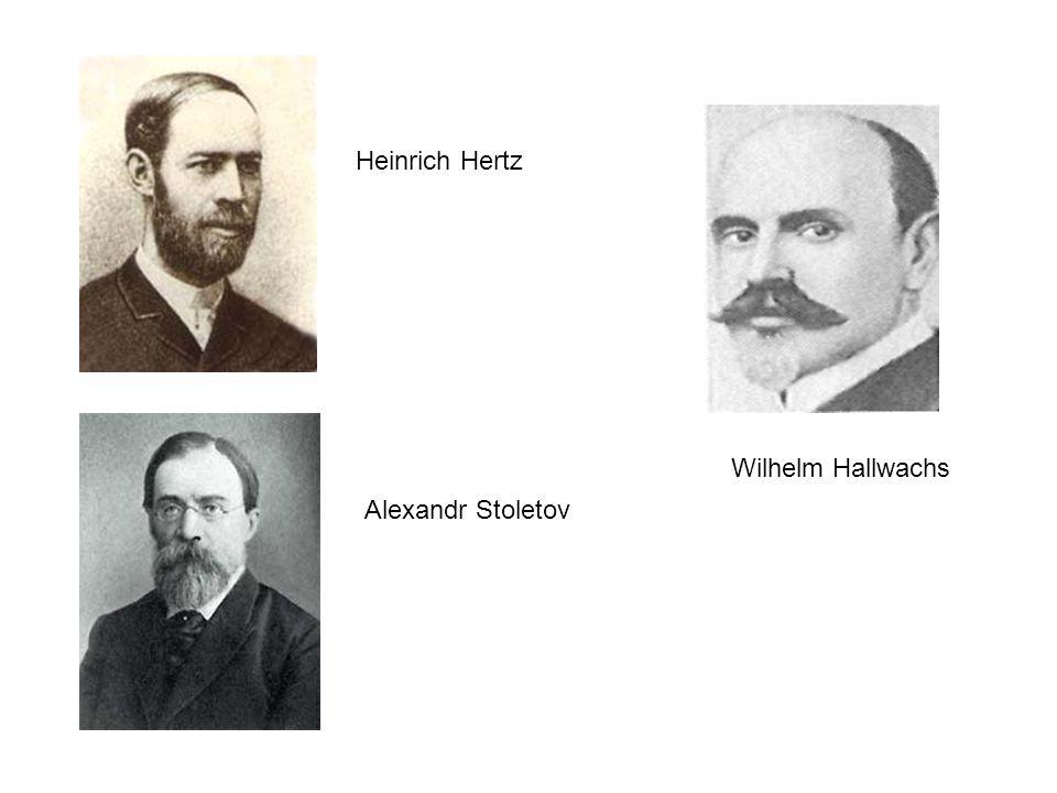 Heinrich Hertz Wilhelm Hallwachs Alexandr Stoletov