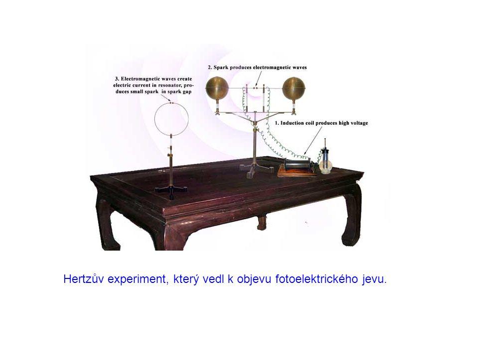 Hertzův experiment, který vedl k objevu fotoelektrického jevu.