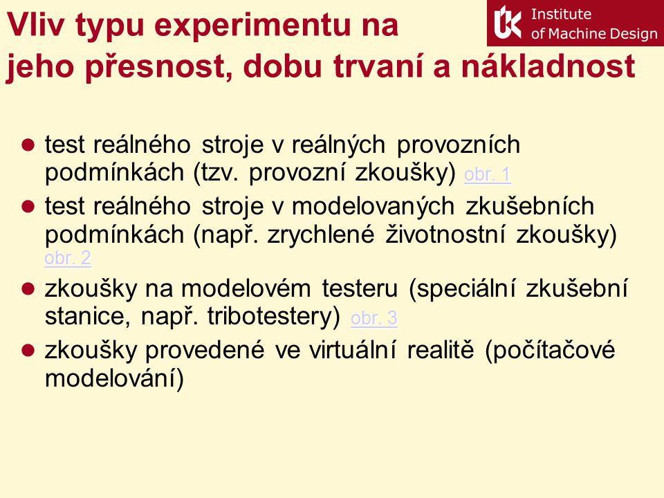 Vliv typu experimentu na jeho přesnost, dobu trvaní a nákladnost
