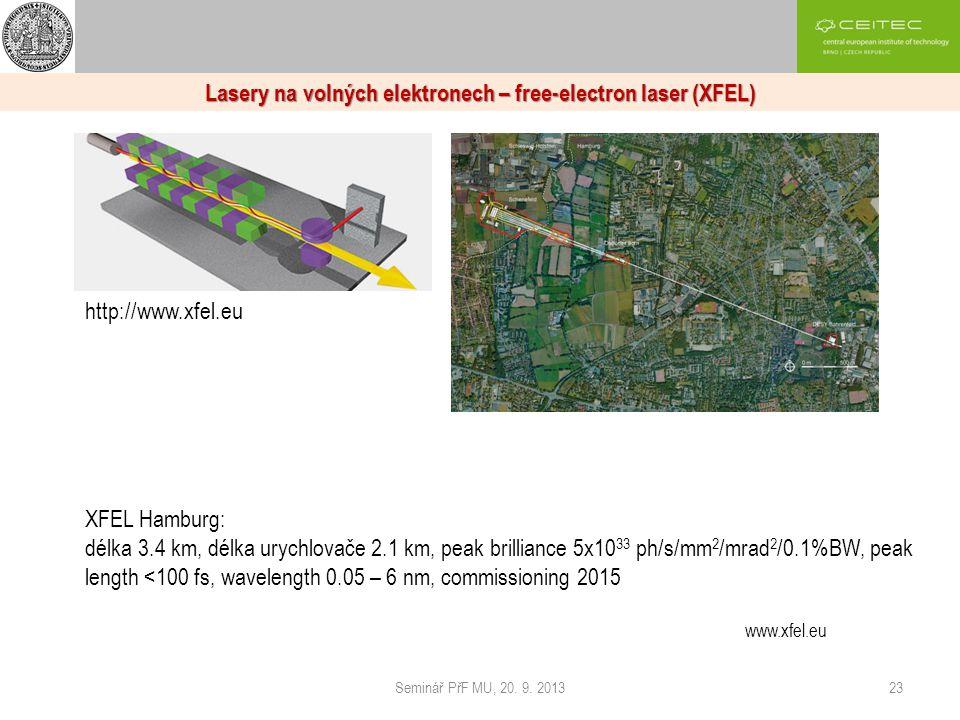 Lasery na volných elektronech – free-electron laser (XFEL)