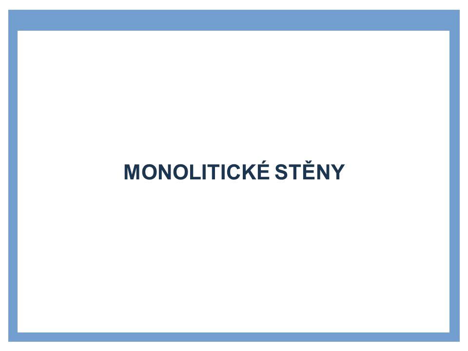 Zdroje Monolitické stěny Příklad: Stránka pro uvedení dílčích témat