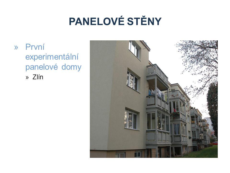Panelové stěny První experimentální panelové domy Zlín