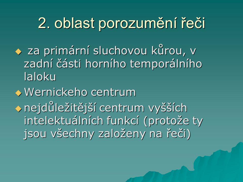 2. oblast porozumění řeči