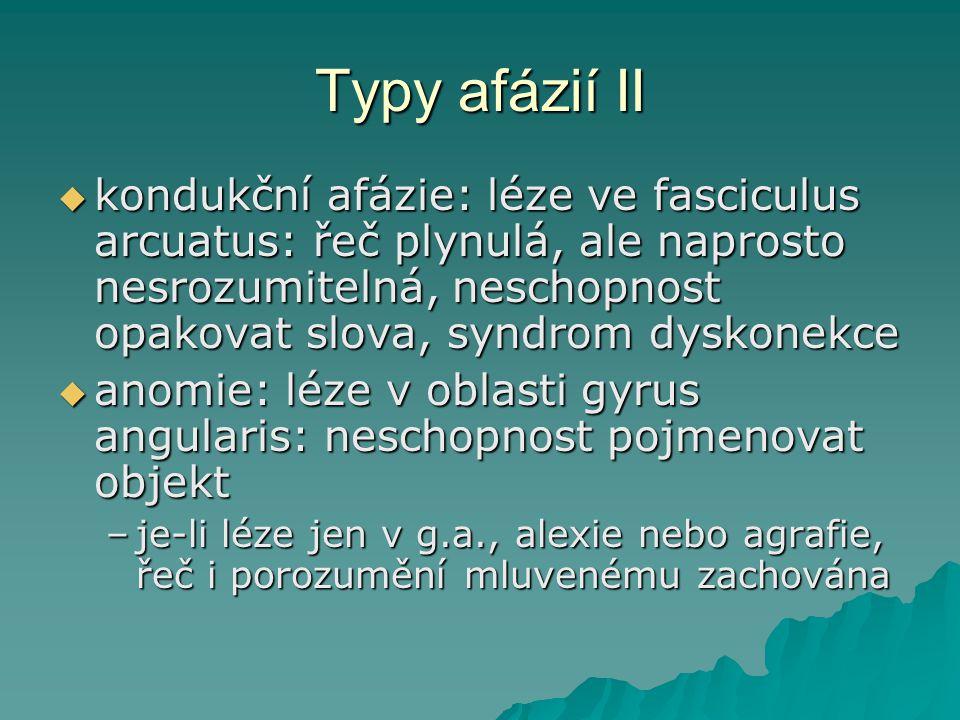 Typy afázií II