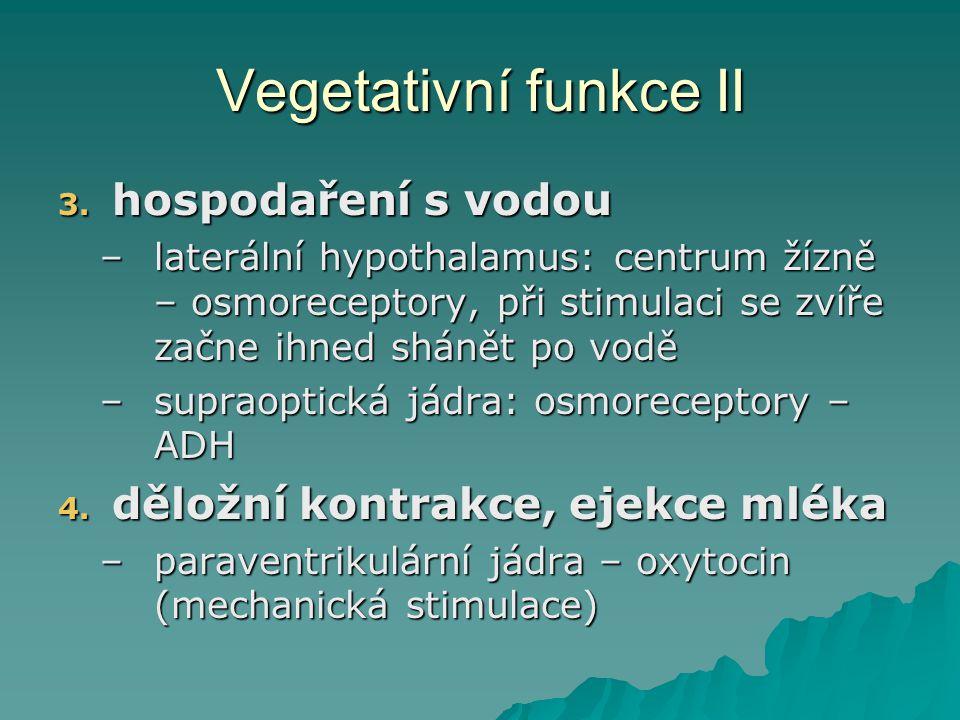 Vegetativní funkce II hospodaření s vodou