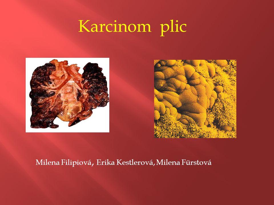 Karcinom plic Milena Filipiová, Erika Kestlerová, Milena Fürstová