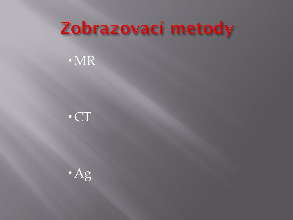Zobrazovací metody MR CT Ag