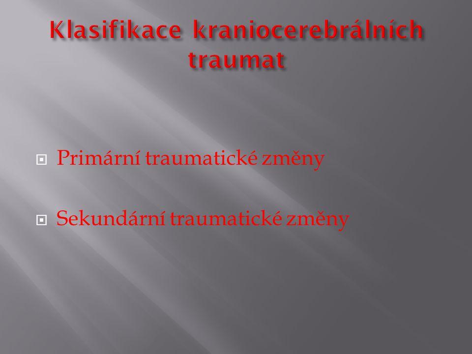 Klasifikace kraniocerebrálních traumat