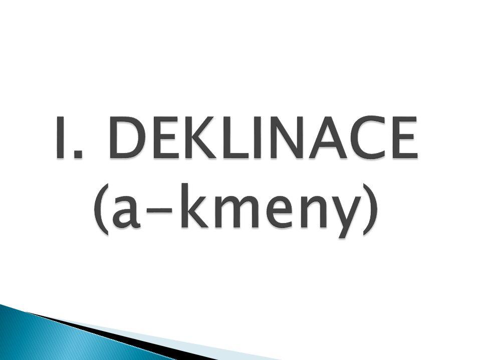I. DEKLINACE (a-kmeny)
