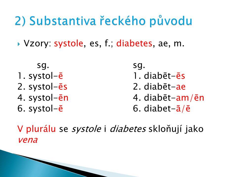 2) Substantiva řeckého původu