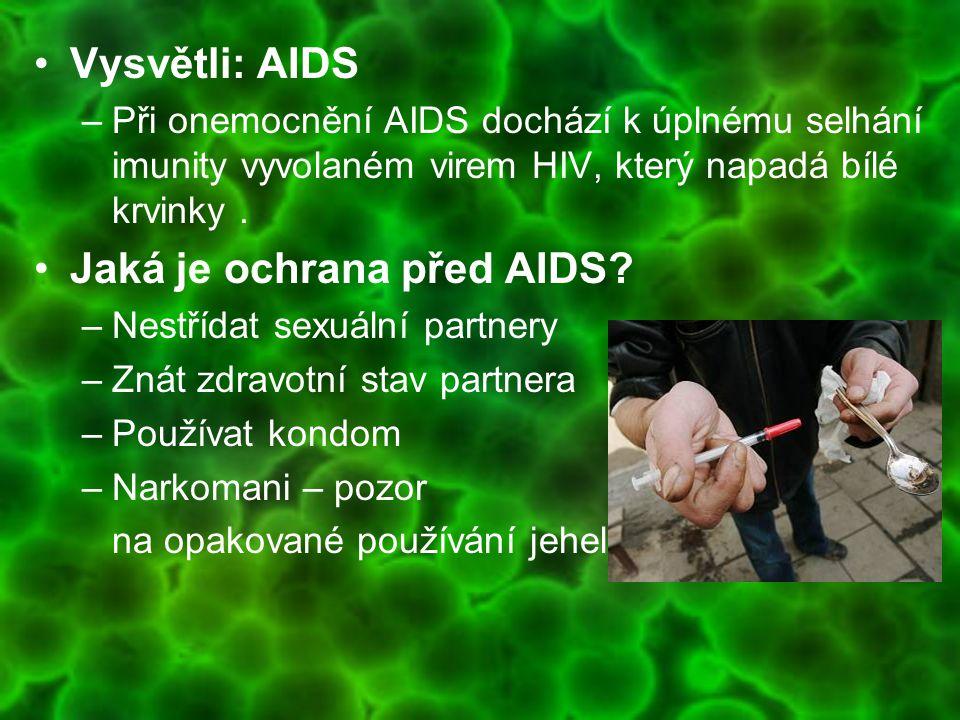Jaká je ochrana před AIDS