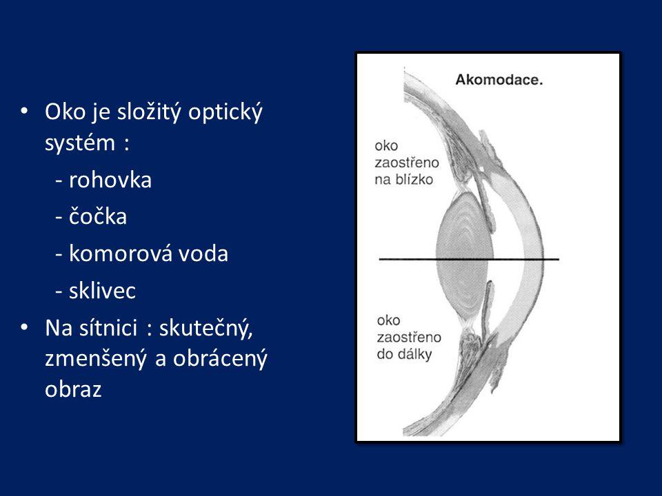 Oko je složitý optický systém :