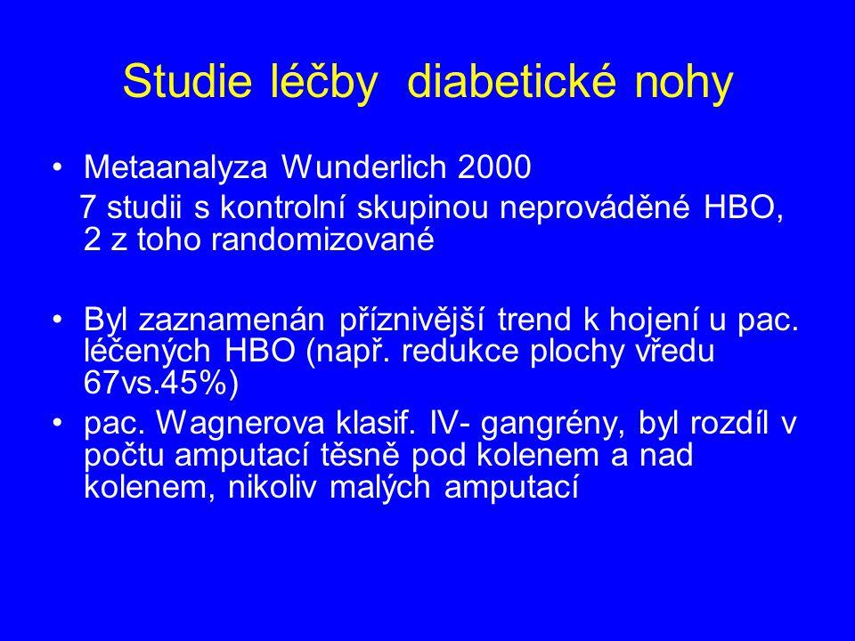 Studie léčby diabetické nohy