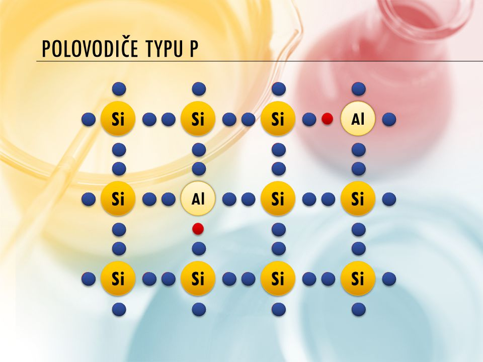 Polovodiče typu P Si Al