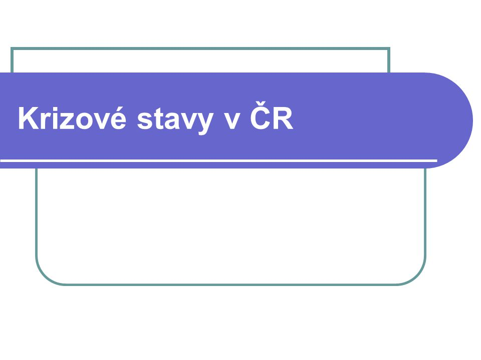 Krizové stavy v ČR