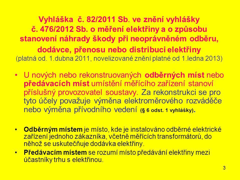 Vyhláška č. 82/2011 Sb. ve znění vyhlášky č. 476/2012 Sb