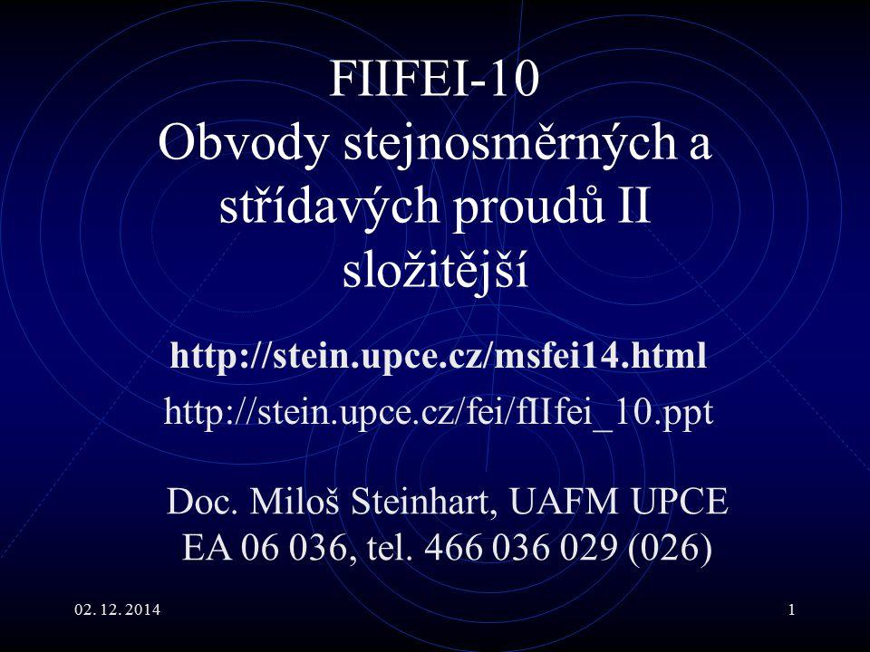 FIIFEI-10 Obvody stejnosměrných a střídavých proudů II složitější