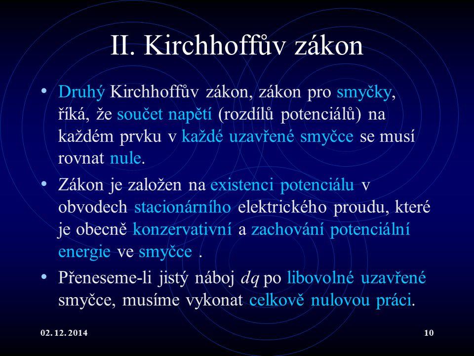 II. Kirchhoffův zákon