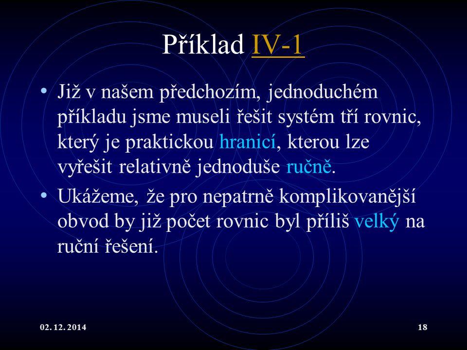 Příklad IV-1