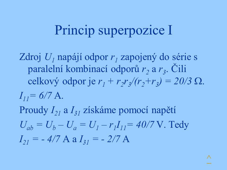 Princip superpozice I