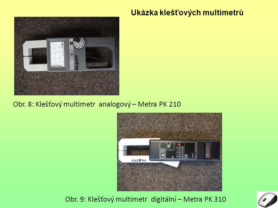Ukázka klešťových multimetrů