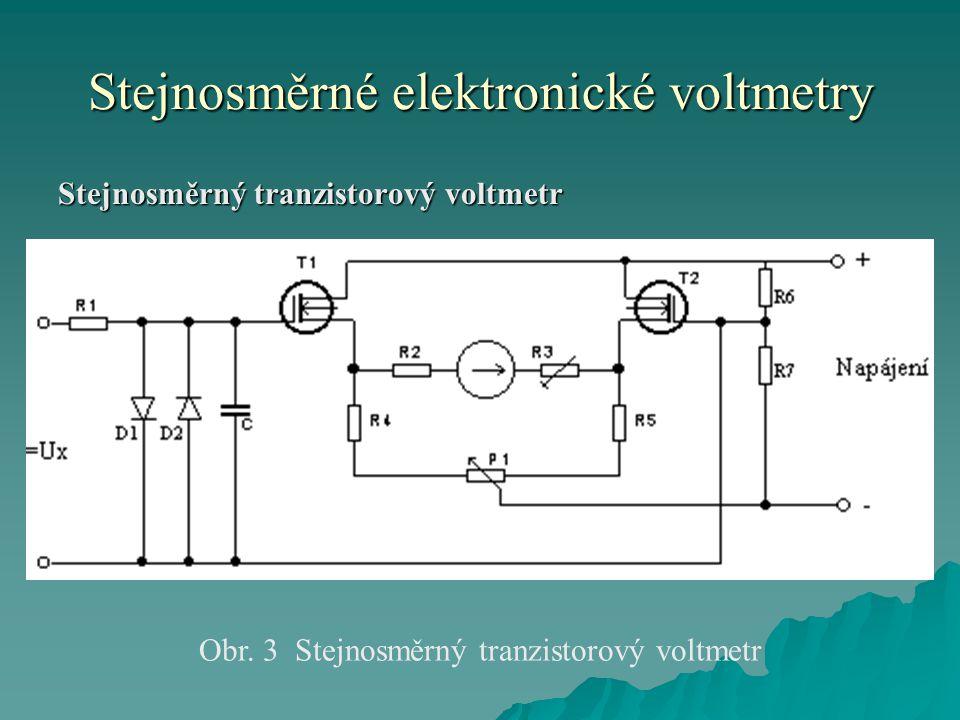 Stejnosměrné elektronické voltmetry