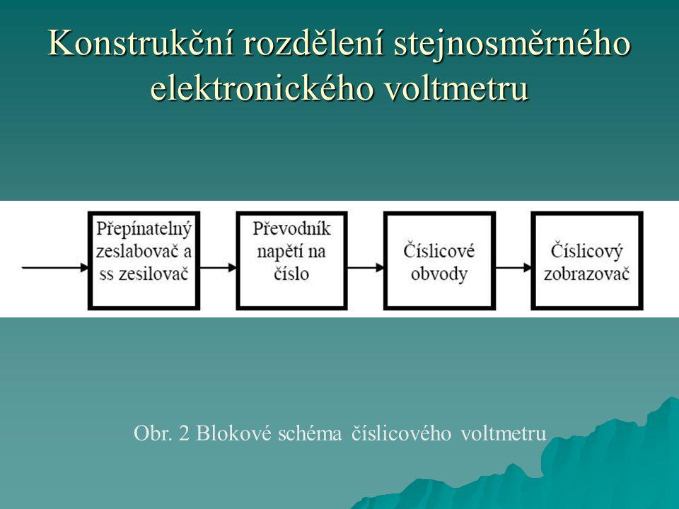 Konstrukční rozdělení stejnosměrného elektronického voltmetru