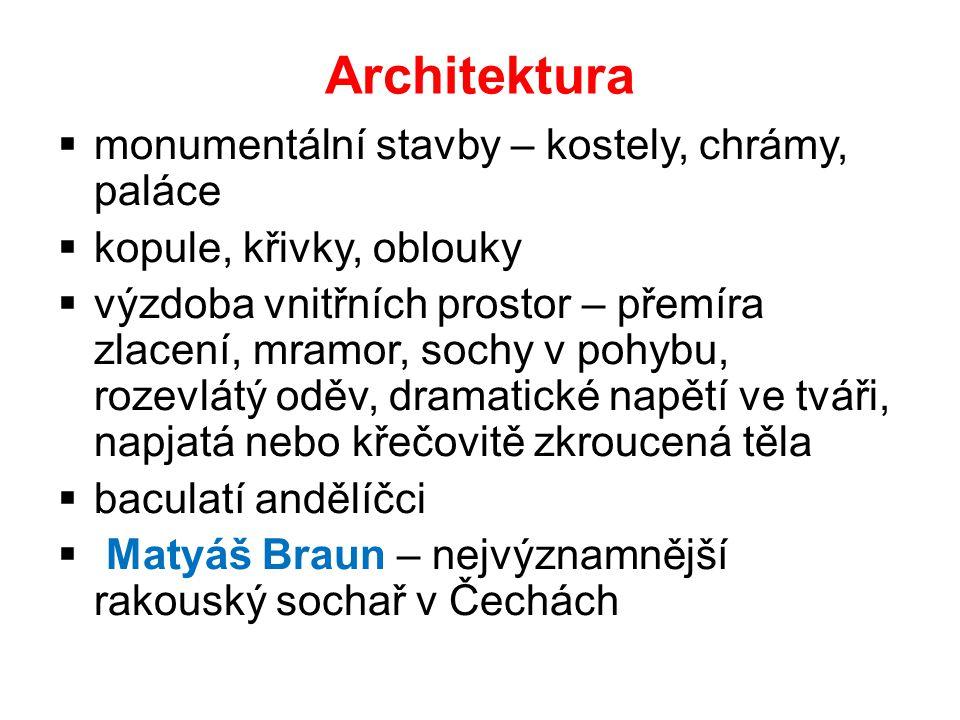 Architektura monumentální stavby – kostely, chrámy, paláce