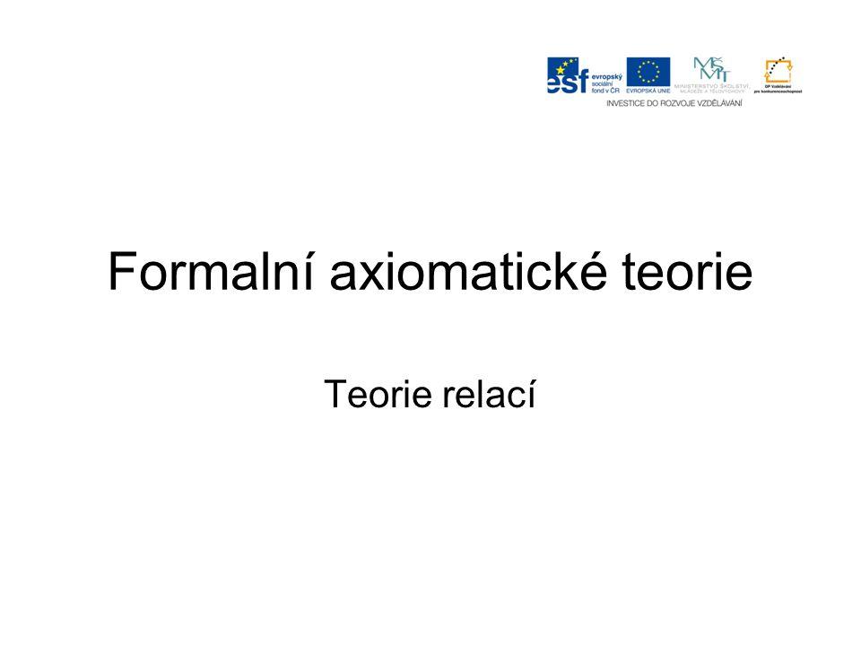 Formalní axiomatické teorie