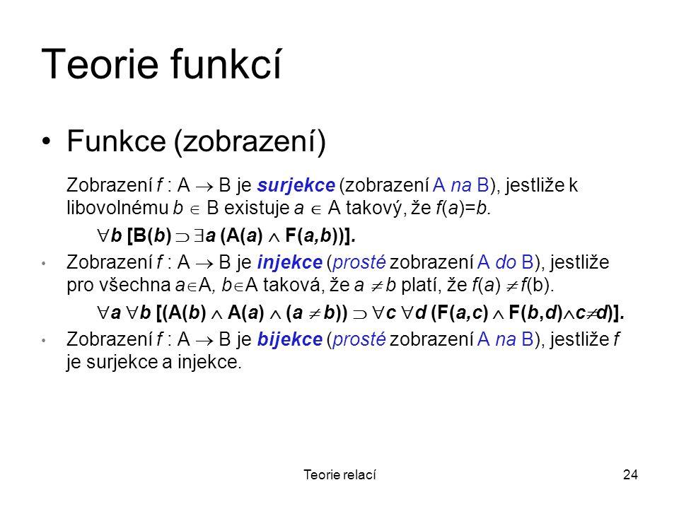 Teorie funkcí Funkce (zobrazení)
