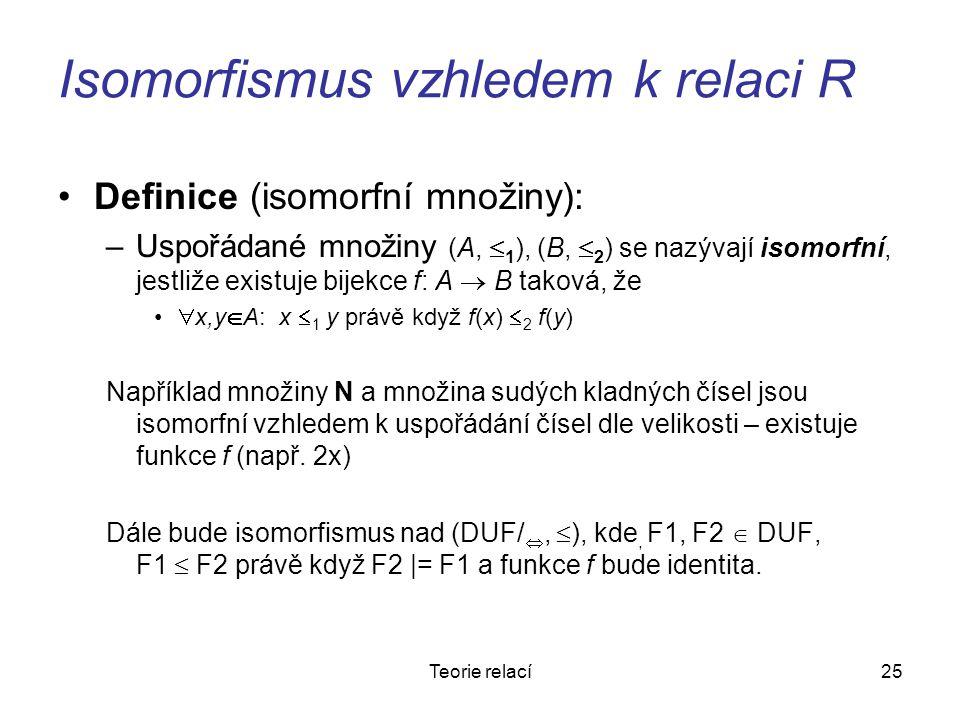 Isomorfismus vzhledem k relaci R