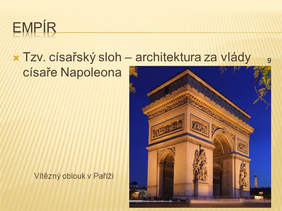 Empír Tzv. císařský sloh – architektura za vlády císaře Napoleona