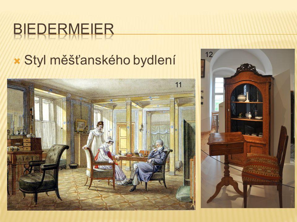 biedermeier Styl měšťanského bydlení 12 11